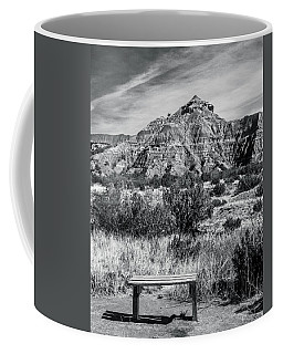 Contemplation Bench Bw Coffee Mug
