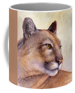Coffee Mug featuring the painting Contemplation by Bonnie Rinier