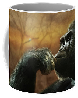 Coffee Mug featuring the photograph Contemplation by Lori Deiter