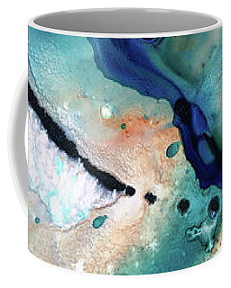 Coffee Mug featuring the painting Contemporary Abstract Art - The Flood - Sharon Cummings by Sharon Cummings