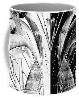 Coffee Mug featuring the painting Contemporary Art - Black And White Embers 1 - Sharon Cummings by Sharon Cummings