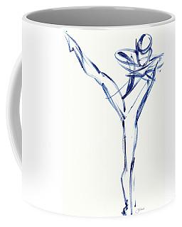 Contemporary Ballet Dancer, Blue Coffee Mug
