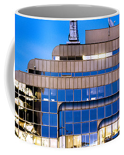 Coffee Mug featuring the photograph Contemporary Office High Rise At Twilight by Amyn Nasser