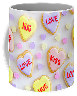 Conversation Heart Cookie Love Coffee Mug by Teri Virbickis