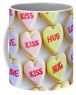 Conversation Heart Decorated Cookies Coffee Mug by Teri Virbickis