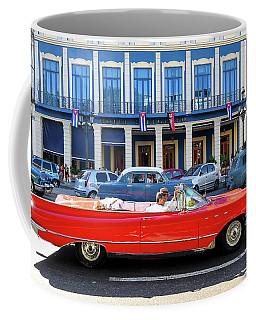 Convertible With Long Tailfins Coffee Mug