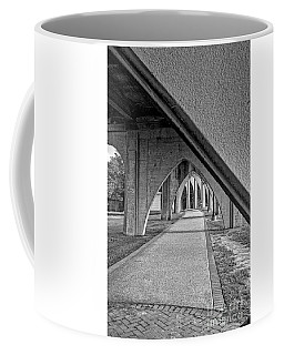 Conway River Walk Black And White Coffee Mug