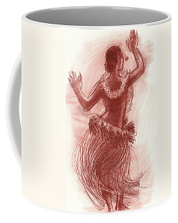 Cook Islands Drum Dancer From The Back Coffee Mug