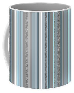 Cool Blues Soft Blue Gray Stripe Coffee Mug
