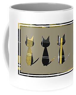 Cool Cats In Tartan Coffee Mug