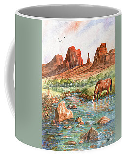 Coffee Mug featuring the painting Cool, Cool Water by Marilyn Smith