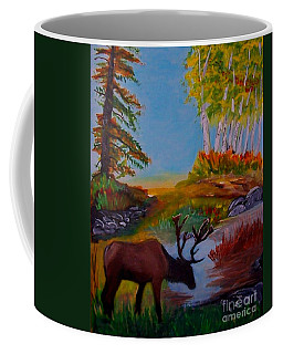 Coffee Mug featuring the painting Cool Drink by Leslie Allen