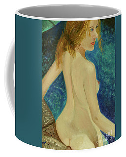 Coffee Mug featuring the painting Cool by Paul McKey