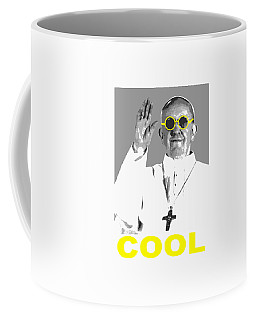 Coffee Mug featuring the digital art Cool Pope  by Jean luc Comperat