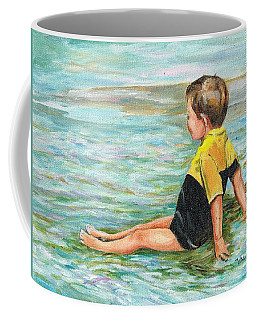 Coffee Mug featuring the painting Cooling Off by Val Stokes