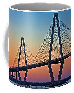 Cooper River Bridge Sunset Coffee Mug by Suzanne Stout