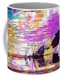 Coffee Mug featuring the digital art Coot Bird Water Bird  by PixBreak Art
