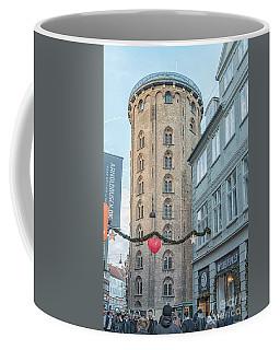 Coffee Mug featuring the photograph Copenhagen Round Tower Street View by Antony McAulay