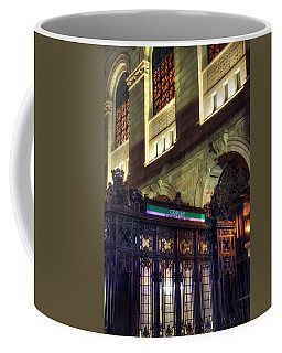 Coffee Mug featuring the photograph Copley Square T Stop - Boston by Joann Vitali