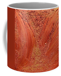 Copper Abstract Coffee Mug