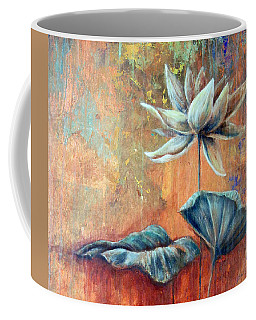 Copper Lotus Coffee Mug