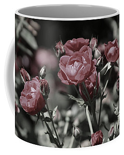 Copper Rouge Rose In Almost Black And White Coffee Mug