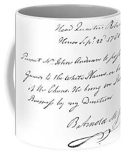 Copy Of The Pass Carried By John Andre, Signed By Benedict Arnold Coffee Mug