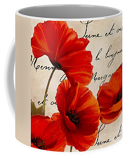 Coquelicots Rouge I Coffee Mug