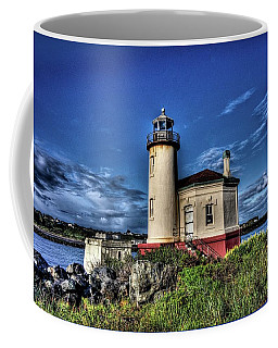 Coffee Mug featuring the photograph Coquille River Lighthouse by Thom Zehrfeld