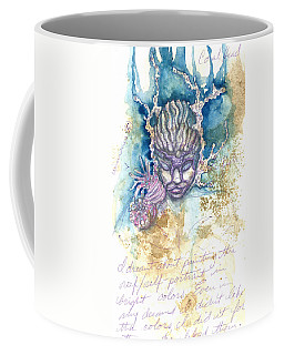 Coffee Mug featuring the painting Coral Head by Ashley Kujan