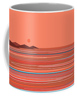 Coffee Mug featuring the digital art Coral Sea by Val Arie