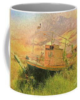 Coffee Mug featuring the photograph Corfu 25 High And Dry by Leigh Kemp