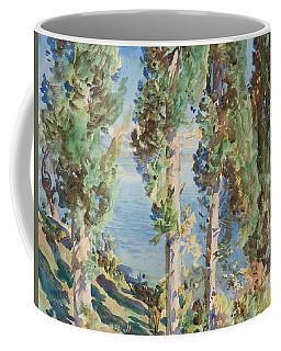 Corfu Cypresses Coffee Mug
