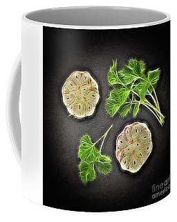 Coriander And Garlic Still Life. Coffee Mug