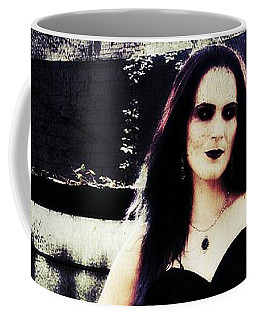 Coffee Mug featuring the digital art Corinne 1 by Mark Baranowski