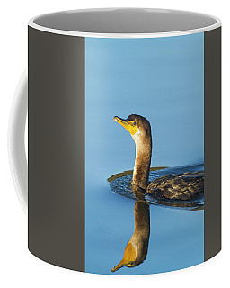 Cormorant Reflection Coffee Mug