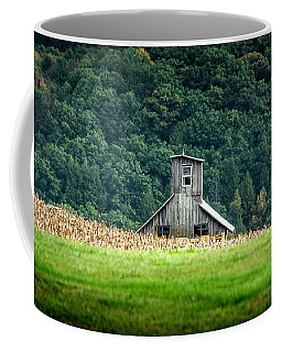 Coffee Mug featuring the photograph Corn Field Silo by Marvin Spates