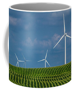 Corn Rows And Windmills Coffee Mug