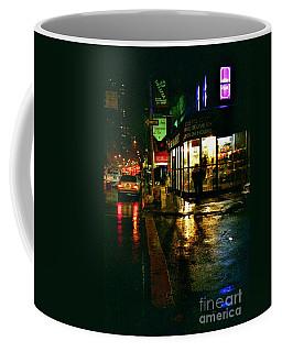 Corner In The Rain Coffee Mug by Miriam Danar