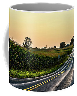 Cornfields And Tangerine Sky Coffee Mug