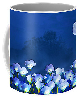 Cornflowers In The Moonlight Coffee Mug
