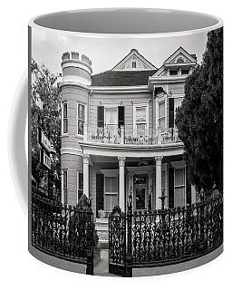 Cornstalk Fence In Black And White Coffee Mug
