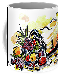 Cornucopia Coffee Mug by Terry Banderas