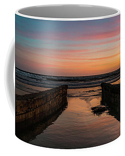 Coronado Pier Remains Sunset Coffee Mug