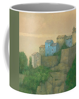 Corsican Hill Top Village Coffee Mug by Steve Mitchell