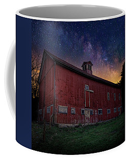 Coffee Mug featuring the photograph Cosmic Barn Square by Bill Wakeley