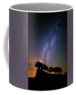 Coffee Mug featuring the photograph Cosmic Caprock Bison by Stephen Stookey
