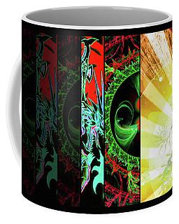 Cosmic Collage Mosaic Right Side Flipped Coffee Mug