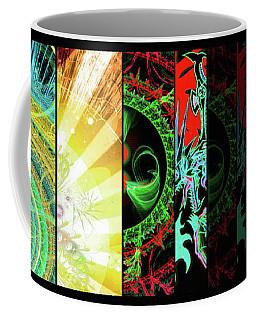 Cosmic Collage Mosaic Right Side Coffee Mug
