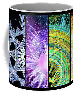 Coffee Mug featuring the mixed media Cosmic Collage Mosaic by Shawn Dall